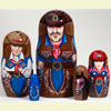 "Cowboy Nesting Doll - 5"" w/ 5 Pieces"