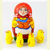 "Chicks Surprise Nesting Doll - 3"" w/ 4 Chicks Inside"