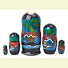 "Northern Lights Nesting Doll - 6"" w/ 5 Pieces"