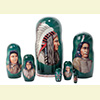 "Native American Chiefs Nesting Doll - 8"" w/ 7 Pieces"